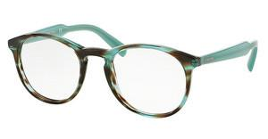 Prada PR 19SV UEN1O1 STRIPED AZURE BROWN