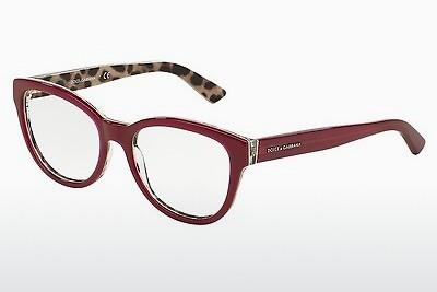 Designerbrillen Dolce & Gabbana Enchanted Beauties (DG3209 2882) - Rot, Bordeaux