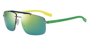 Boss BOSS 0608/S 6KP/Z9 GREEN MULTILAYERTGRNYELW (GREEN MULTILAYE)