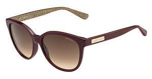 Jimmy Choo LUCIA/S EMU/D8 BROWN DSBU GLTTGD (BROWN DS)