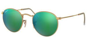 Ray-Ban RB3447 112/P9 GREEN MIRROR POLARMATTE GOLD