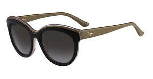 Salvatore Ferragamo SF757S 018 BLACK TURTLE