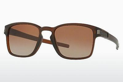 Sonnenbrille Oakley LATCH SQUARED (OO9353 935309) - Braun, Rootbeer