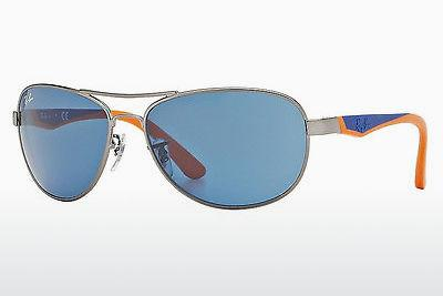 Sonnenbrille Ray-Ban Junior RJ9534S 241/80 - Grau, Rotguss