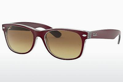 Sonnenbrille Ray-Ban NEW WAYFARER (RB2132 605485) - Rot, Transparent