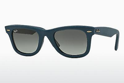 Sonnenbrille Ray-Ban WAYFARER LEATHER (RB2140QM 116871) - Blau