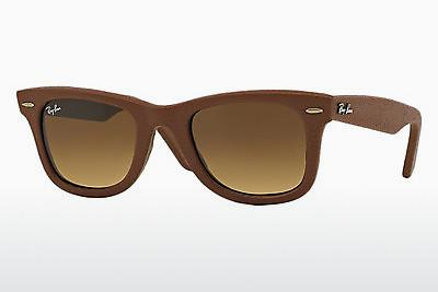 Sonnenbrille Ray-Ban WAYFARER LEATHER (RB2140QM 116985) - Braun
