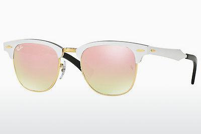 Sonnenbrille Ray-Ban CLUBMASTER ALUMINUM (RB3507 137/7O) - Weiß