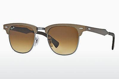 Sonnenbrille Ray-Ban CLUBMASTER ALUMINUM (RB3507 139/85) - Braun, Bronze