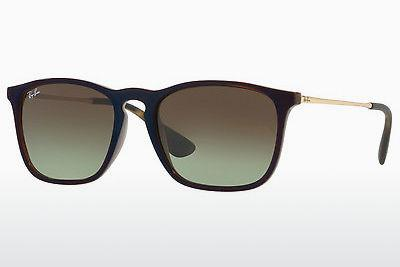 Sonnenbrille Ray-Ban CHRIS (RB4187 6315E8) - Transparent, Braun, Blau