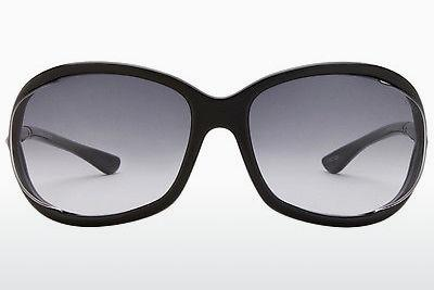 Sonnenbrille Tom Ford Jennifer (FT0008 01B) - Schwarz