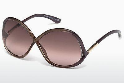 Sonnenbrille Tom Ford Ivanna (FT0372 69Z) - Burgund, Bordeaux, Shiny