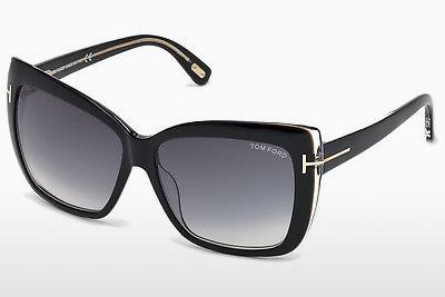 Sonnenbrille Tom Ford Irina (FT0390 01B) - Schwarz, Shiny