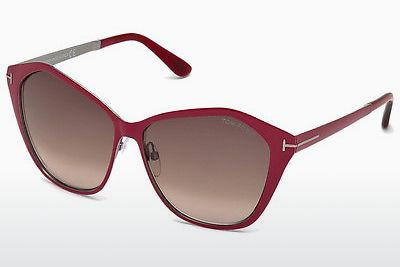 Sonnenbrille Tom Ford Lena (FT0391 69Z) - Burgund, Bordeaux, Shiny