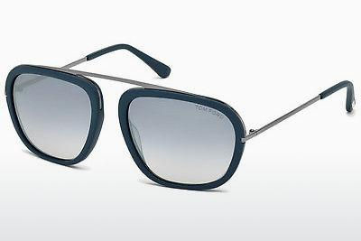 Sonnenbrille Tom Ford Johnson (FT0453 88C) - Blau, Turquoise, Matt