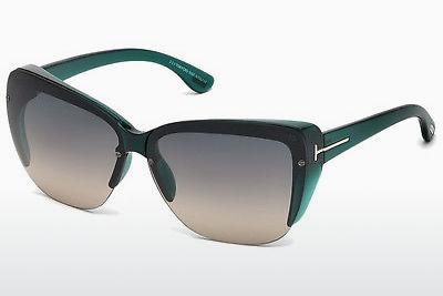 Sonnenbrille Tom Ford FT0457 87B - Blau, Turquoise, Shiny