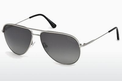 Sonnenbrille Tom Ford FT0466 17D - Grau, Matt, Palladium