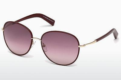 Sonnenbrille Tom Ford Georgia (FT0498 69T) - Burgund, Bordeaux, Shiny