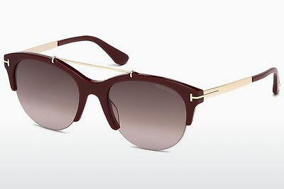 Sonnenbrille Tom Ford Adrenne (FT0517 69T) - Burgund, Shiny