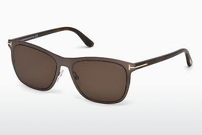 Sonnenbrille Tom Ford Alasdhair (FT0526 48J) - Braun, Dark, Shiny
