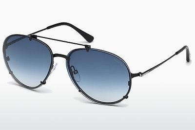 Sonnenbrille Tom Ford Dickon (FT0527 01W) - Schwarz, Shiny
