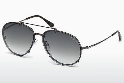 Sonnenbrille Tom Ford Dickon (FT0527 08B) - Grau, Shiny