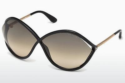 Sonnenbrille Tom Ford Liora (FT0528 01B) - Schwarz, Shiny