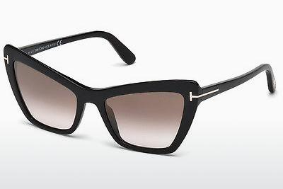 Sonnenbrille Tom Ford Valesca (FT0555 01G) - Schwarz, Shiny