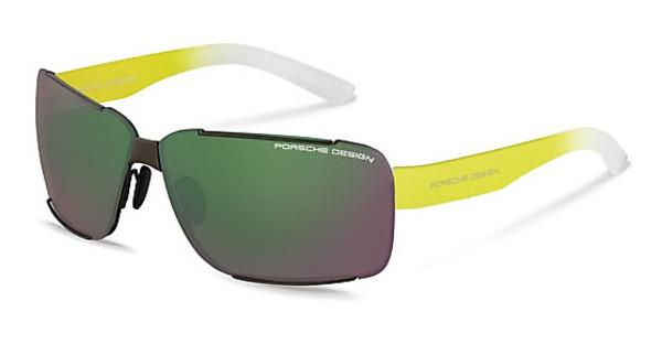 Porsche Design P8580 D green, silver mirrored + browndark gun