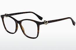 FENDI Fendi Damen Brille » FF 0119«, braun, RZU - havana