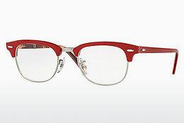 Designerbrillen Ray-Ban CLUBMASTER (RX5154 5651) - Rot, Gemustert