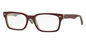 Ray-Ban RX5286 5152 TOP RED ON BEIGE HORN
