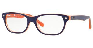 Ray-Ban Junior RY1555 3762 TRASP ORANGE ON TOP BLUE