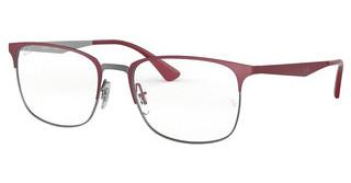 Ray-Ban RX6421 3003 GUNMETAL ON TOP MATTE BORDEAUX
