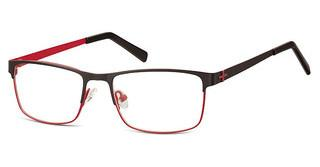 Sunoptic M3 D Matt Black/Dark Red