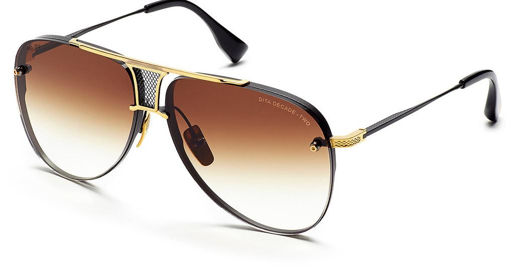 DITA   DRX-2082 B Dark Brown to Clear-  ARMatte Black-18k Gold
