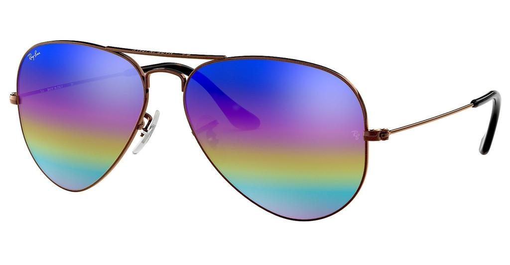 Ray-Ban   RB3025 9019C2 LIGHT GREY MIRROR RAINBOW 2METALLIC DARK BRONZE