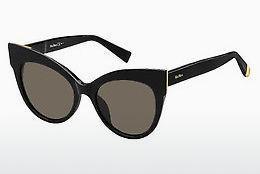 Max Mara Damen Sonnenbrille » MM FLAT I«, schwarz, 807/IR - schwarz/grau