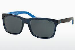 Sonnenbrille Polo PH4098 556387 - Transparent, Blau