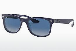 Sonnenbrille Ray-Ban Junior Junior New Wayfarer (RJ9052S 70234L) - Blau, Transparent