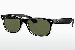 Sonnenbrille Ray-Ban NEW WAYFARER (RB2132 6052) - Schwarz, Transparent