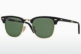 Sonnenbrille Ray-Ban CLUBMASTER FOLDING (RB2176 901) - Schwarz