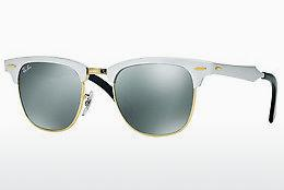 Sonnenbrille Ray-Ban CLUBMASTER ALUMINUM (RB3507 137/40) - Weiß