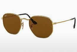 Sonnenbrille Ray-Ban Hexagonal (RB3548N 001/57) - Gold