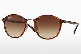 Sonnenbrille Ray-Ban Round Ii Light Ray (RB4242 620113) - Braun, Havanna