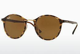 Sonnenbrille Ray-Ban Round Ii Light Ray (RB4242 710/73) - Braun, Havanna