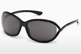 Sonnenbrille Tom Ford Jennifer (FT0008 199) - Schwarz, Shiny
