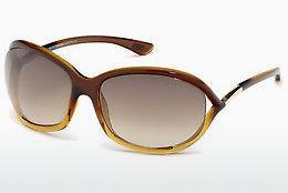 Sonnenbrille Tom Ford Jennifer (FT0008 50F) - Braun, Dark