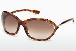 Sonnenbrille Tom Ford Jennifer (FT0008 52F) - Braun, Dark, Havana