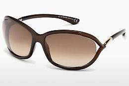 Sonnenbrille Tom Ford Jennifer (FT0008 692) - Braun, Dark, Shiny